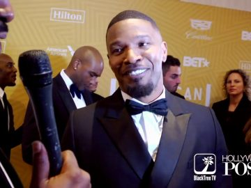 Jamie Foxx opens up about viral Grammy Video showing celebrities past black press at ABFF Honors