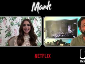 Lily Collins Interview for Netflix's Oscar Award Contender MANK