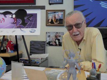 Stan Lee details Spiderman & Venom Bad Days signed prints.